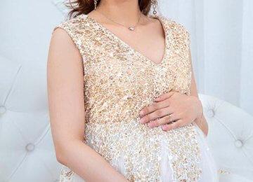 беременная с красивым макияжем