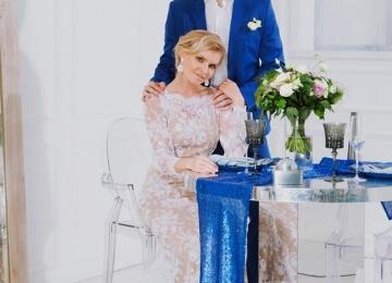 Красивая свадебная фотосессия на студии