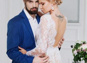 Красивая свадебная фотосессия на студии 3