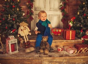 новогодняя фотосессия мальчик