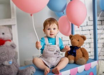 фотосессия на 1 год с шариками
